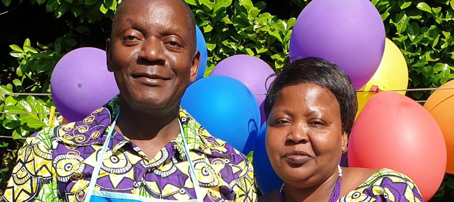 Songolea, Country Leader of TLM Belgium, with his wife Irene