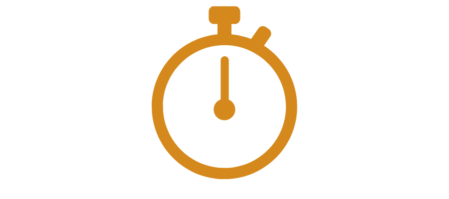 A stopwatch graphic