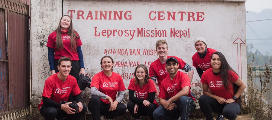 A group photo of Youth Advocates from New Zealand visiting our work in Nepal in 2020