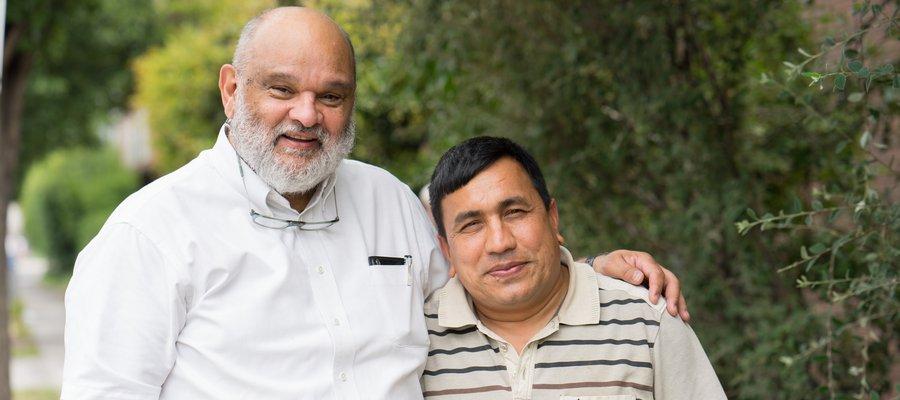 Sheldon Rankin and Amar Timalsina