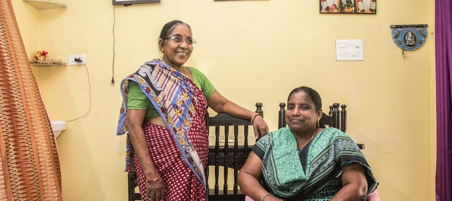 A picture of two ladies in India who took part in advocacy classes