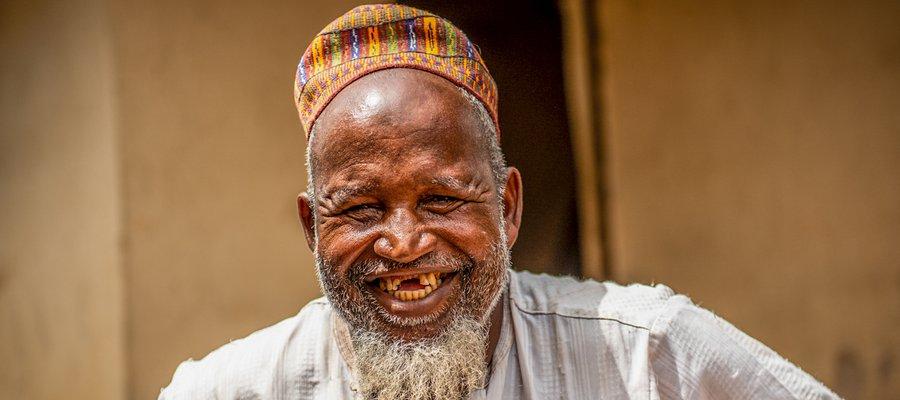 A smiling gentleman at the Dakwa Settlement near Abuja, Nigeria