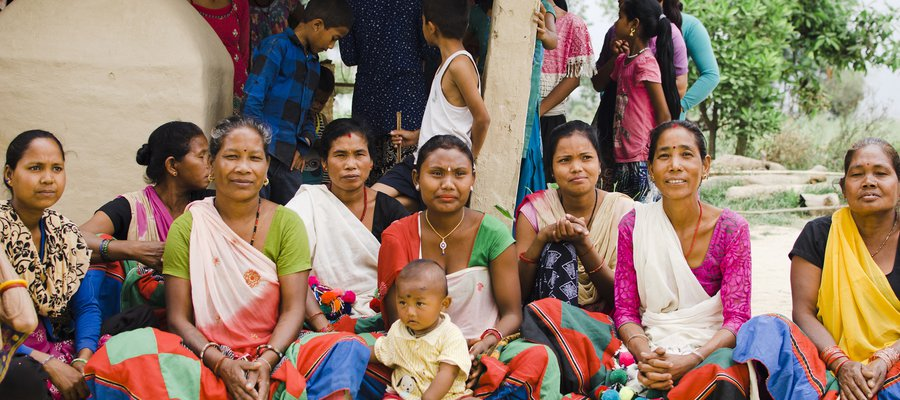 Women from a self-help group in Nepal