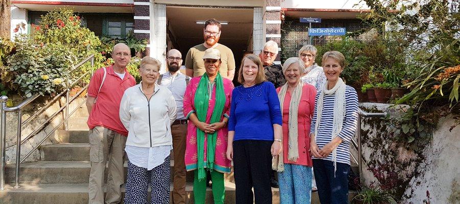 TLMEW Volunteer Speakers outside Anandaban Hospital