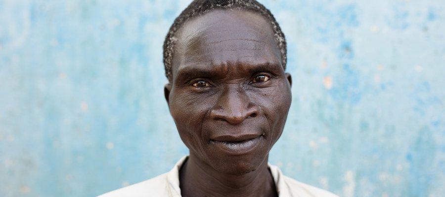 A portrait photo of Paulino, a village leader in Mozambique