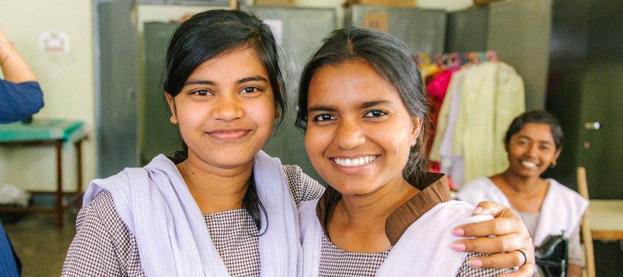 Tailoring students at Bankura