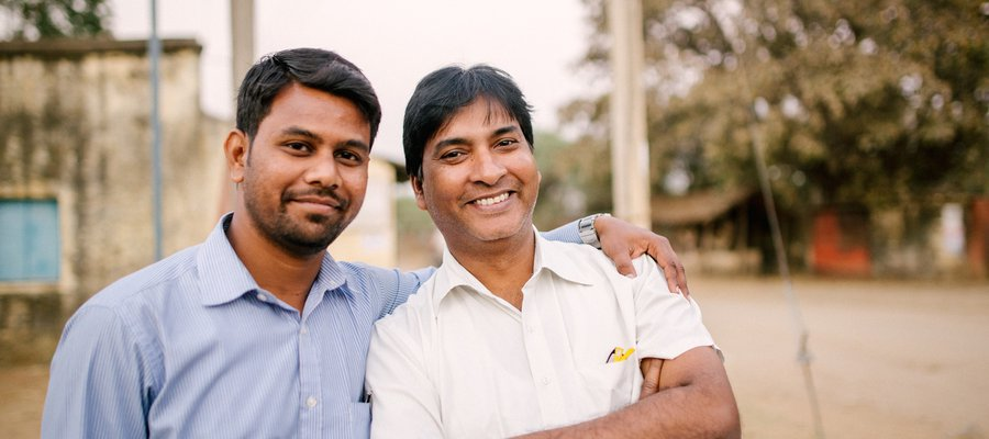 Vivek and Sanjib are staff at one of our Vocational Training Centres