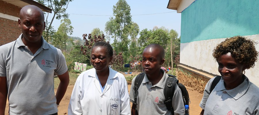 Four of our team members in DR Congo