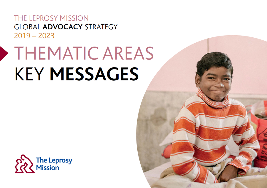 The cover of The Leprosy Mission's Key Advocacy Messages Document
