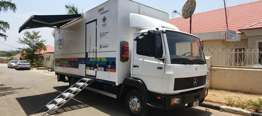 An image of our mobile clinic in Nigeria